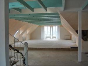 In der ersten Etage entsteht derzeit ein Seminarraum...