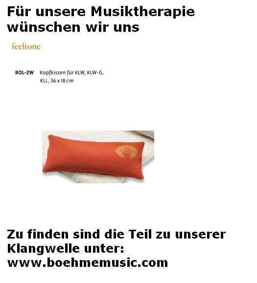 Feeltone Klangwelle Kopfkissen